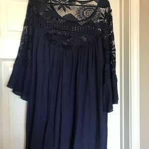 Navy Lace Tunic/Dress